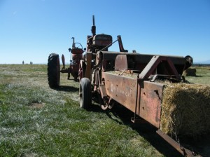 1946 Farmall M and 55W bayler